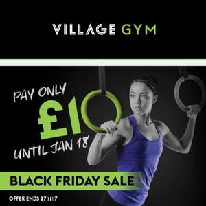 Village Gym £10 membership for just under 2 months