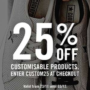25% off customisable products @ Converse