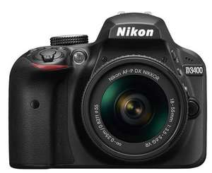 Nikon D3400 Kit AF-P DX 18-55mm f/3.5-5.6G VR Lens Digital SLR Camera - Black £290.99 - 	Toby Deals