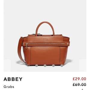 Abbey Bag Drop from £69:00 To £29:00 / £32.95 delivered at  Fiorelli