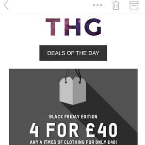 Black Friday edition - 4 pieces of clothing for £40 @ Zavvi