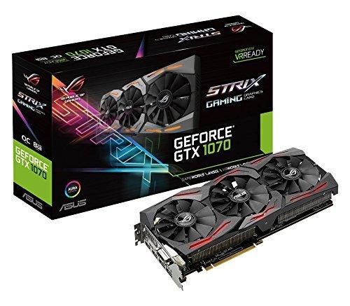 ASUS STRIX-GTX1070-O8G-Gaming Nvidia Geforce GTX 1070 Graphics Card - Black - £362 @ Amazon