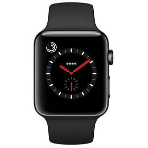 Apple Watch Series 3, GPS and Cellular, 42mm Space Black Stainless Steel Case with Sport Band, Black £619 @ John lewis