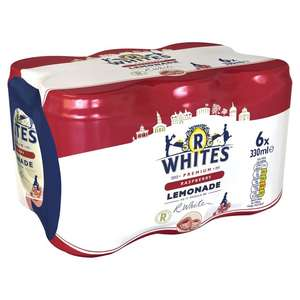 R Whites Raspberry 6 x 330ml cans at Morrisons
