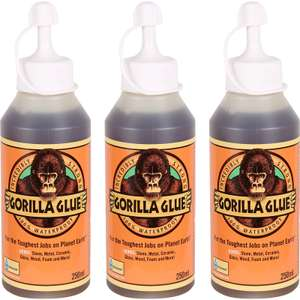Gorilla Glue Triple Pack 3 x 250ml RRP £26.97, save £10.79 @ Toolstation