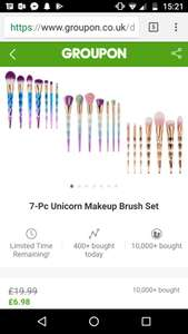 7 piece make-up brush set £9 with postage @ Groupon