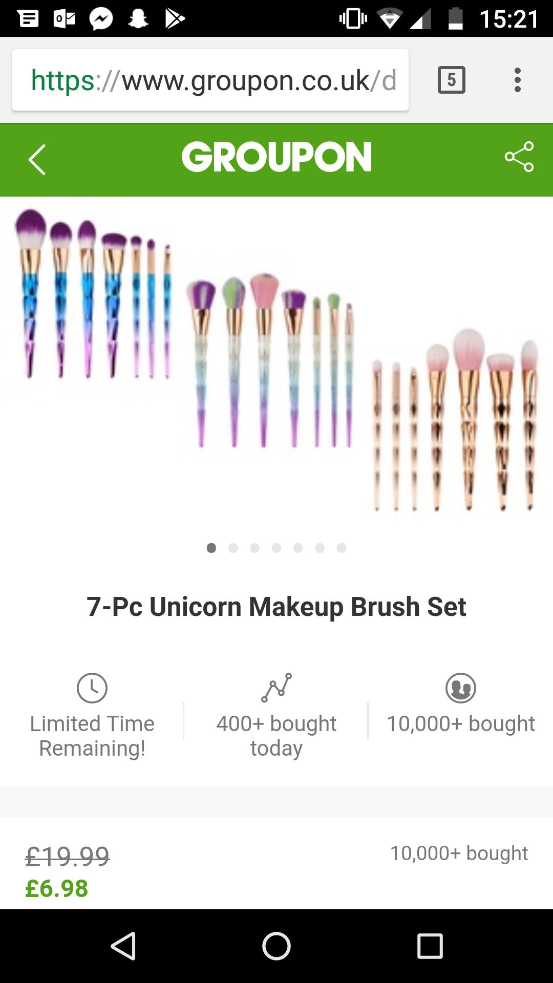 7 piece make-up brush set £9 with postage @ Groupon