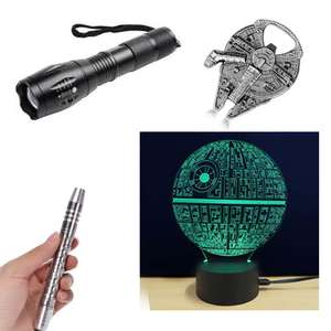Rosegal Black Friday Offers - Warship Bottle Opener 1p - Death Star LED Lamp £4 - Pocket LED Torch 50p - 5 Mode Flashlight £2.50