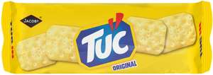 Jacobs Tuc Snack Crackers (150g) Jacobs Tuc Cream & Chive (120g) / McVitie's Cheddars or with Bacon (150g) was £1.00 now 50p @ Morrisons