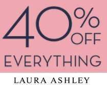 Laura Ashley Black Friday Weekend Event 40% off everything until Monday