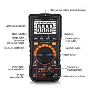 Digital Multimeter with Non Contact Voltage Detection @ £16.99 (Prime) ££21.74 Amazon Lightning Deal