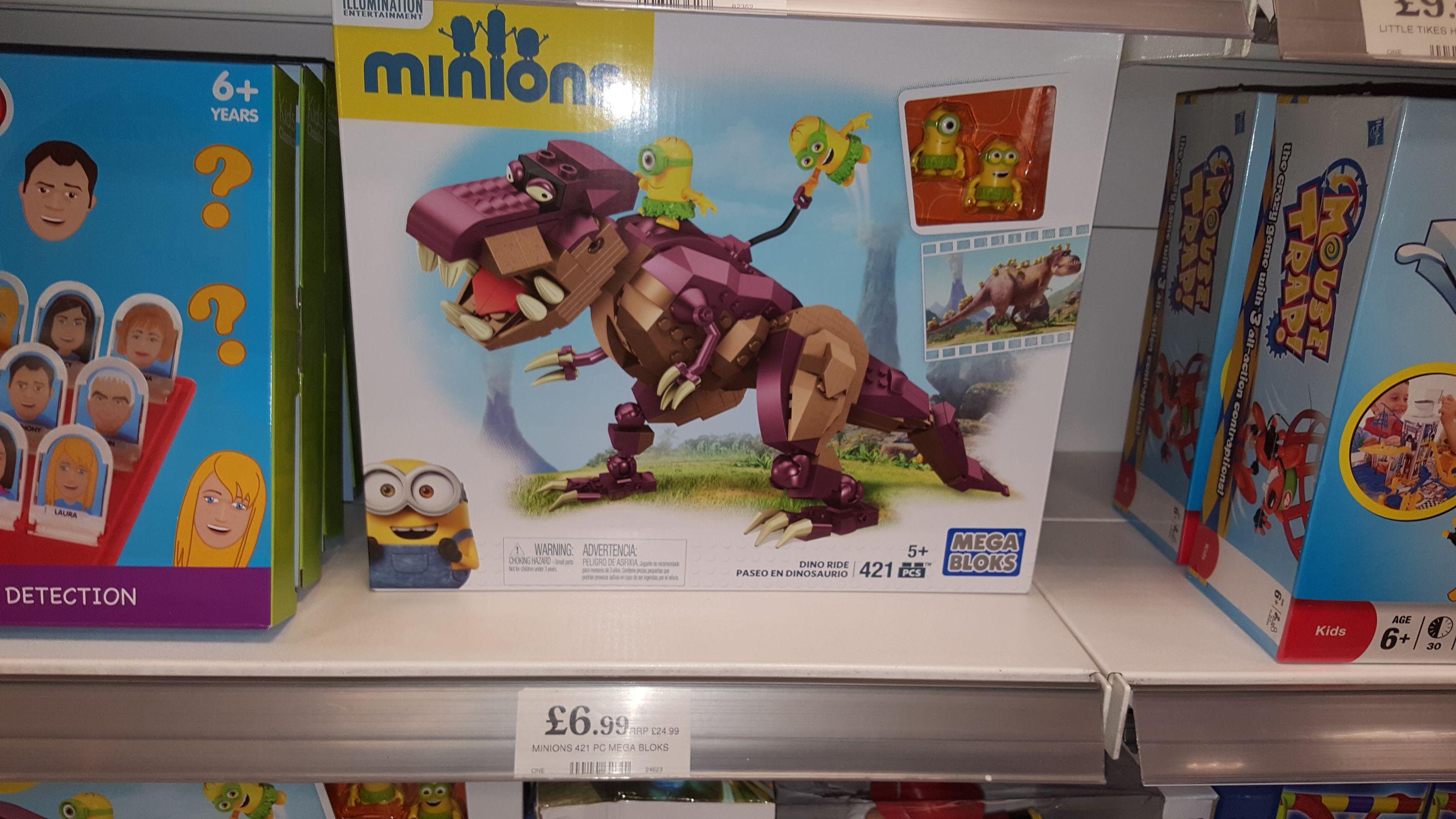 Despicable Me 2 - Minions Mega Bloks DINOSAUR RIDE 421 pieces at Home Bargains