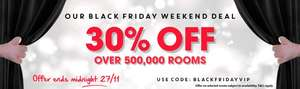 Travelodge Black Friday - 30% Off Selected Rooms