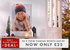 Jessops:  50x70cm Canvas for Only £25!