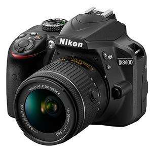Jessops:  Nikon D3400 Digital SLR in Black with 18-55mm f/3.5-5.6 AF-P Non VR Lens- £354