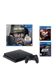 Playstation 4 Call of Duty WWII 500GB Jet Black Bundle with Gran Turismo Sport and Hidden Agenda £199.99 @ Very