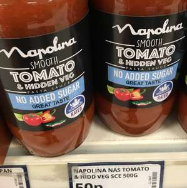 Napolina Pasta Sauce 500g Jar 50p @ poundstrecher