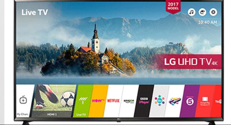LG 4k 49 inch TV 49UJ630V £399 @ RGB