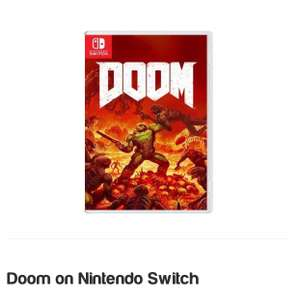 Doom on Nintendo Switch. £37.99. Free delivery. @ Simply Games