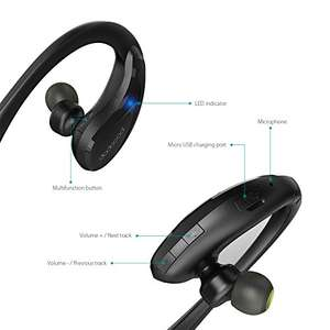 Dodocool Wireless Sport In-ear Bluetooth Earphones (£7.99 w/ code WPXA5Y9E) - Amazon Sold by aoputek and Fulfilled by Amazon.