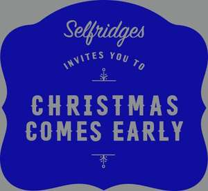 Double Discount at Selfridges - 10% off Beauty & Fragrance / 20% off most other items w/code -- Double Discount as it works on already reduced items!