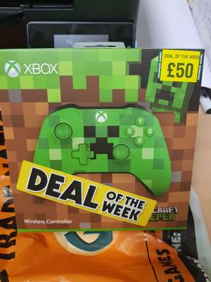 Xbox one minecraft controller £50 at grainger games/tradenation