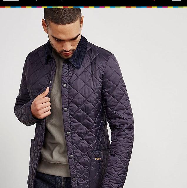 Barbour heritage liddesdale padded jacket £50 @ Tessuti