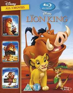 The Lion King Trilogy (Blu-Ray) £11.70 Delivered (Using Code) @ Zoom