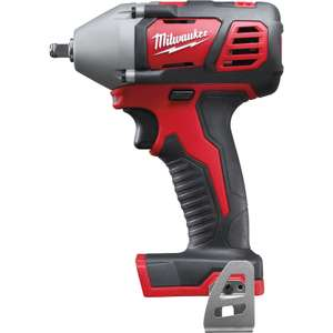 "Milwaukee M18BIW38-0 18V Li-Ion Compact Impact Wrench 3/8"" Body Only SAVE over 25% RRP £134.44 @ Toolstation"