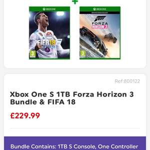 Smyths Xbox one s 1tb Forza and fifa bundle £229