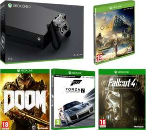 Xbox One X 1 TB + Fallout 4 + Doom + Forza Motorsport 7 + Assassin's Creed Origins £469.99 // Xbox One X 1 TB + Forza Motorsport 7 + Assassin's Creed Origins £449.99 @ CurrysPCworld