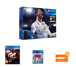 PlayStation 4 500GB FIFA 18 Bundle with GT Sport + Knowledge is Power PlayLink and NOW TV £199.99 @ Game
