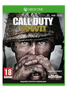 Call of Dut WWII for PS4 & XBOX ONE £39.99 + Digital Zombies Weapon Camo + Zombies Prima Strategy Add-On @ Amazon £39.99