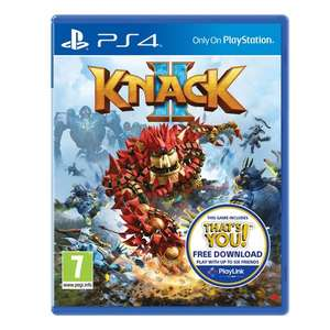 Knack 2 / Uncharted: The Lost Legacy / Everybody's Golf / Uncharted 4 (PS4) £14.99 each @ Smyths