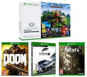 Xbox One 500GB + Forza 7 + Doom + Fallout 4 + either Rocket League / Minecraft Bundle / Forza Horizons 3 or Assassins Creed £179.99 @ Currys