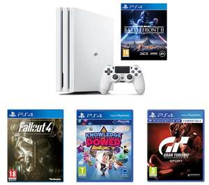 **GLITCH** PlayStation 4 Pro + Gran Turismo + Star Wars Battlefront 2 + Knowledge Is Power + Fallout 4 £199.99 @ Currys