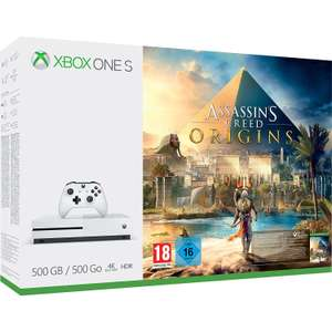Xbox One S 500GB Assassins Creed Origins + Forza Motorsport 7 + Select 1 of 3 Free Games -  Doom or Dishonored 2 or Fallout 4  £179.70  Shopto