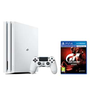 Sony PlayStation 4 Pro Console, 1TB, with DualShock 4 Controller, Glacier White and Gran Turismo Sport - £282.95 @ John Lewis