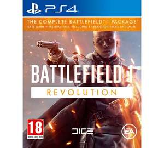 Battlefield 1 Revolution PS4 £20.99  @ Argos