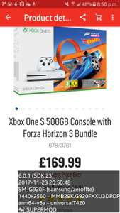 xbox one console deals at argos £169.99