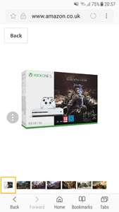 Xbox One S 500GB Console - Shadow of War Bundle at Amazon for £169