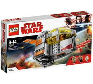 LEGO Star Wars Resistance Transport Pod - 75176 Half Price @ Argos - £19.99 (C&C)