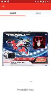 Air Hogs Dr1 fpv race drone Argos £49.99