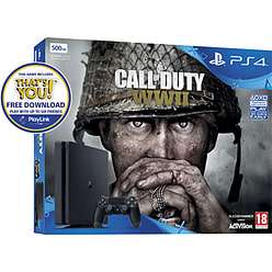 *Black Friday* GAME PlayStation 4 500GB with COD: WWII + GT Sport + Hidden Agenda + Overwatch GOTY/Destiny 2/Crash Bandicoot and NOW TV Bundles