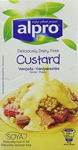 Alpro vanilla soya custard £4 for a pack of 8 525g cartons @ Amazon