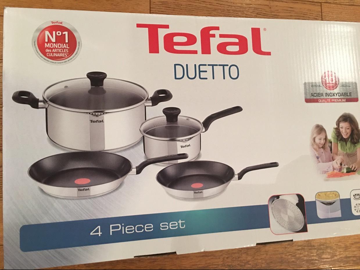 TEFAL Duetto 4 Sauce Pan Set £40 IN STORE @ Asda