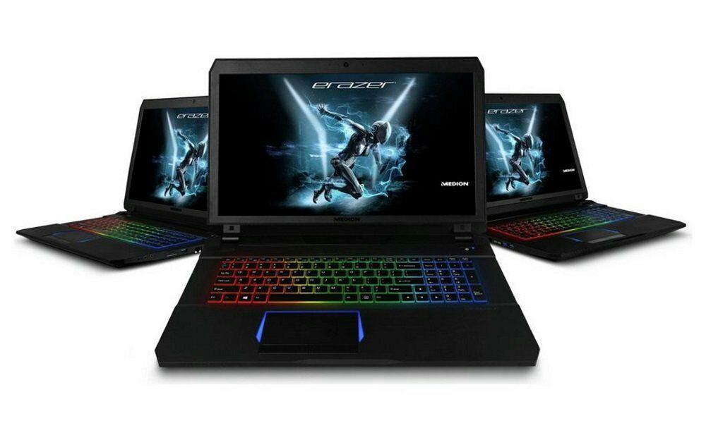 Medion ERAZER X7853 17.3-Inch Full HD Display Gaming Desktop - (Black) (Intel Core i7-7700HQ 2.8 GHz Processor, 16 GB RAM, 1 TB HDD, 16 GB GDDR5 NVIDIA GeForce GTX 1070, Windows 10 Home)