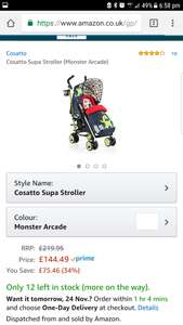 Cosatto supa stroller monster arcade - £144.49 @ Amazon