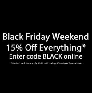 Boswell's of Oxford - 15% off EVERYTHING with code BLACK