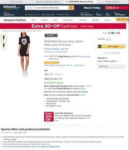 20 percent of fashion plus an additional 10 percent off with student account on fashion @ Amazon